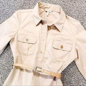 Old Navy short khaki shirt dress